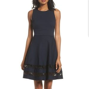 Eliza J fit and flare dress